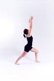 Mulher da aptidão da ioga fotografia de stock