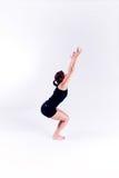 Mulher da aptidão da ioga foto de stock
