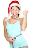 Mulher da aptidão do Natal Fotografia de Stock