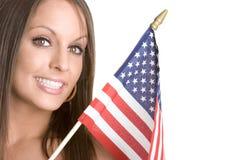 Mulher da bandeira fotografia de stock royalty free
