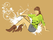 Mulher da beleza Ilustração Stock