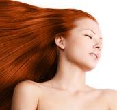 Mulher da beleza. cabelo longo Foto de Stock