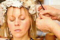 Mulher da beleza com cabelo preto liso saudável e brilhante longo Foto de Stock Royalty Free