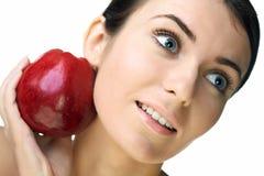 Mulher da beleza com fruta foto de stock