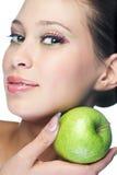 Mulher da beleza com fruta imagem de stock royalty free
