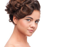 Mulher da beleza com pele perfeita. Fotos de Stock Royalty Free