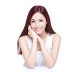 Mulher da beleza com sorriso encantador Fotografia de Stock