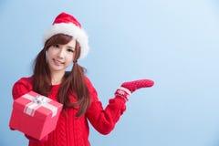 Mulher da beleza do Natal imagem de stock