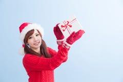 Mulher da beleza do Natal imagem de stock royalty free