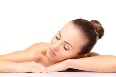 Mulher da beleza do skincare da cara Fotografia de Stock Royalty Free