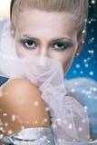 Mulher da beleza sob a lua Imagens de Stock Royalty Free