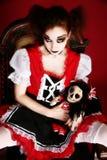 Mulher da boneca de Goth foto de stock royalty free