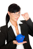 Mulher da carta do investimento Foto de Stock Royalty Free