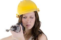 Mulher da construção (2) Foto de Stock Royalty Free
