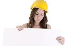 Mulher da construção (5) Imagens de Stock Royalty Free