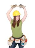 Mulher da construção fotos de stock