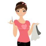 Mulher da costura Imagem de Stock