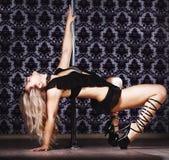 Mulher da dança de Pólo Imagens de Stock