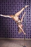 Mulher da dança de Polo Imagens de Stock