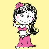 Mulher da dança do ventre dos desenhos animados Imagem de Stock Royalty Free