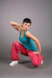 Mulher da dança no sportswear fotografia de stock royalty free
