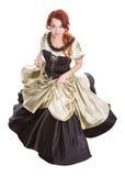 Mulher da dança no vestido de esfera imagem de stock royalty free