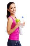 Mulher da dieta saudável Fotos de Stock Royalty Free