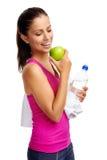 Mulher da dieta saudável fotografia de stock royalty free