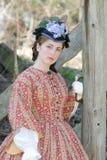Mulher da era da guerra civil Fotografia de Stock