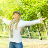 Mulher da felicidade Imagens de Stock Royalty Free