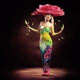 Mulher da flor Imagens de Stock