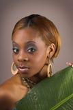Mulher da folha da banana Imagem de Stock Royalty Free