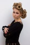 Mulher da forma com composição bonita Imagem de Stock Royalty Free