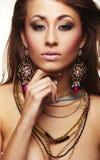 Mulher da forma com jóia foto de stock royalty free