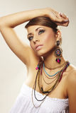 Mulher da forma com jóia Imagem de Stock