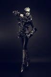 A mulher da forma com preto compõe Foto de Stock Royalty Free