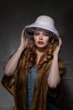 mulher da forma do estilo dos anos 40 Imagem de Stock Royalty Free