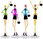 Mulher da forma do grupo das meninas Fotografia de Stock