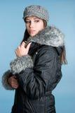 Mulher da forma do inverno fotografia de stock