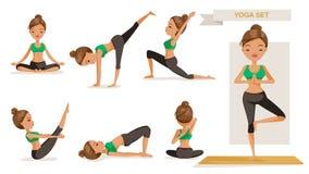 Mulher da ioga ilustração do vetor