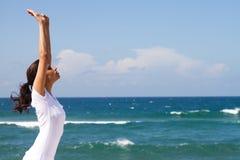 Mulher da ioga Fotografia de Stock Royalty Free