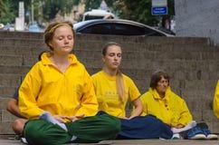 Mulher da ioga Fotos de Stock Royalty Free