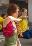 Mulher da ioga Foto de Stock Royalty Free