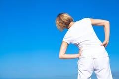 Mulher da ioga que faz exercícios Foto de Stock Royalty Free