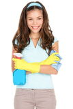 Mulher da limpeza da primavera Imagem de Stock Royalty Free