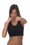 Mulher da luta - foco na face Fotos de Stock Royalty Free