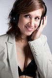 Mulher da música Imagem de Stock Royalty Free