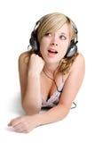 Mulher da música Foto de Stock Royalty Free