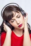 Mulher da música Imagem de Stock