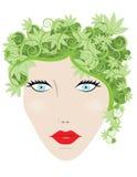 Mulher da natureza ilustração royalty free